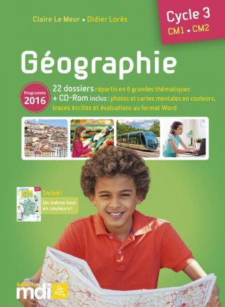 """Couverture de la ressource pédagogique """"Géographie CM"""""""