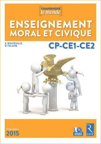 """Couverture de la ressource pédagogique """"Enseignement moral et civique CP-CE1-CE2"""""""