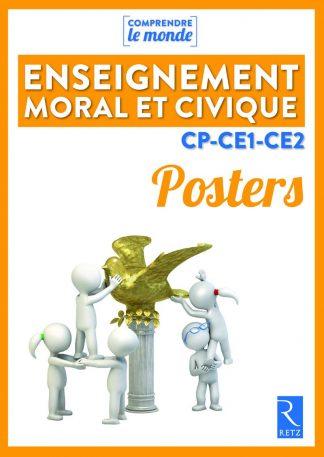 """Couverture de la ressource pédagogique """"Posters Enseignement moral et civique CP-CE1-CE2"""""""